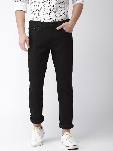 Levis Men Black 511 Slim Fit Mid-Rise Clean Look Stretchable Jeans