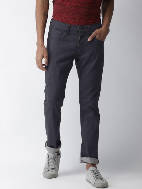 Levis Men Black Skinny Fit Low-Rise Clean Look Jeans 65504