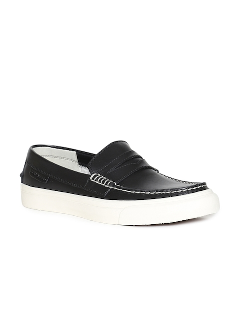 Cole Haan Men Black Leather Slip-On :Sneakers