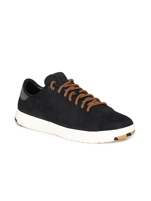 Cole Haan Men Black Leather Sneakers