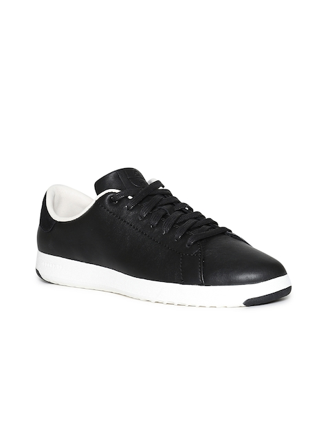 Cole Haan Women Black Leather Sneakers