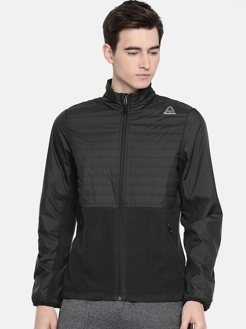 Reebok Men Black OD CMB FLC Sporty Jacket