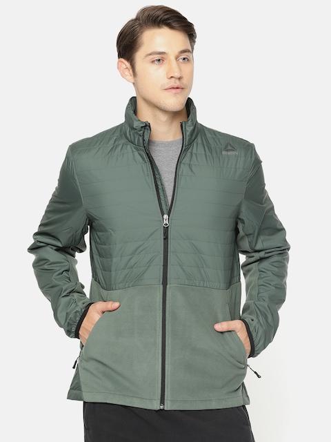 Reebok Men Green Solid OD CMB FLC Sporty Jacket