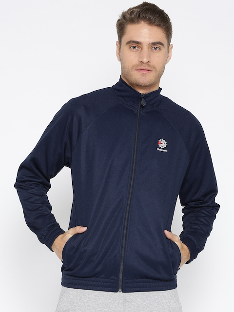 Reebok Classic Men Navy Blue AC Classics Foundation Franchise Track Jacket