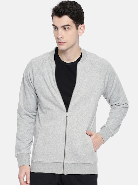 Reebok Men Grey Melange EL Track Bomber Jacket