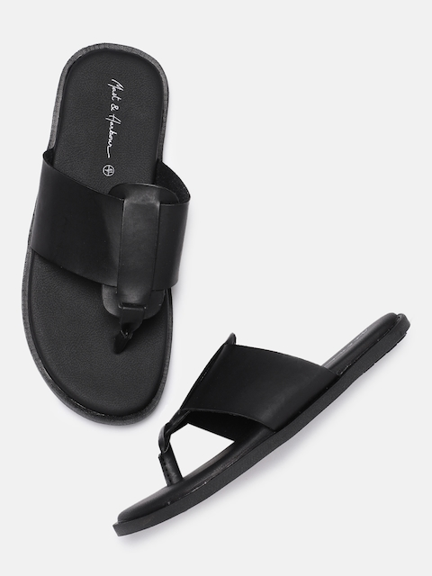 Mast & Harbour Men Black Sandals