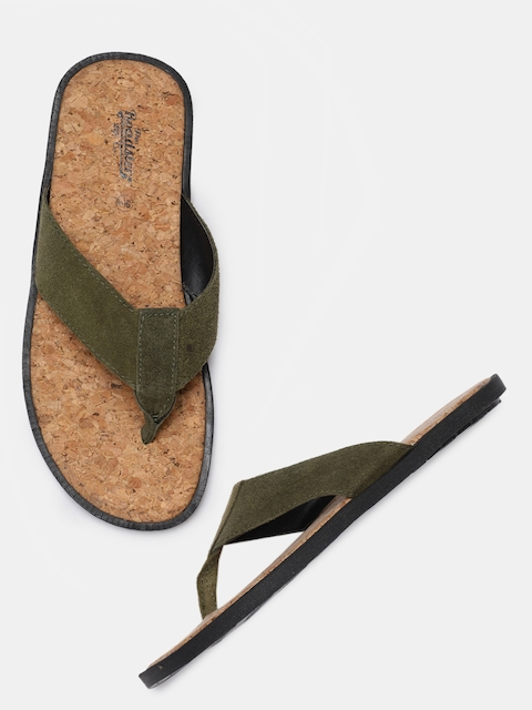 Roadster Men Olive Green Sandals