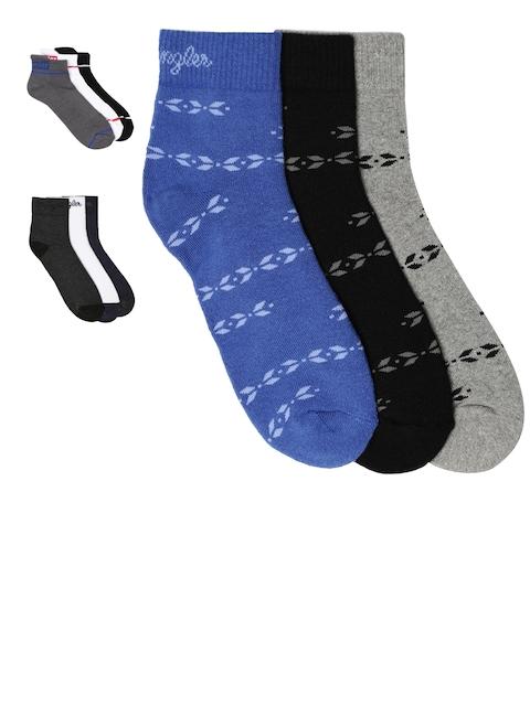 Wrangler Men Pack of 9 Assorted Ankle-Length Socks