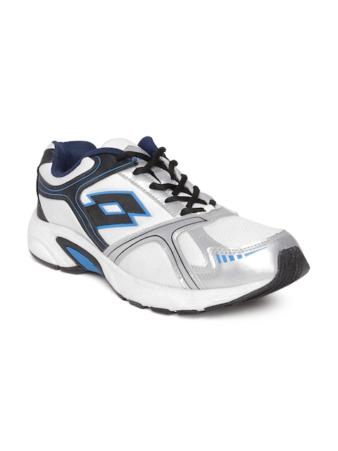 Lotto Men White & Silver-Toned Running Shoes