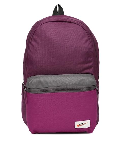 Nike Unisex Purple Solid HERITAGE Backpack