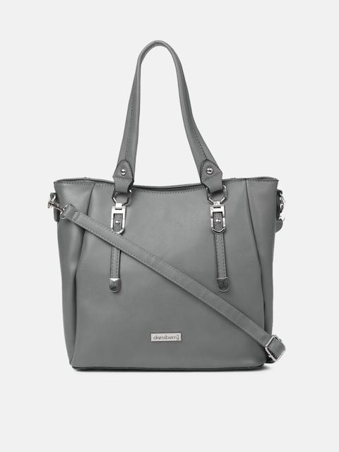DressBerry Women Grey Solid Handheld Bag