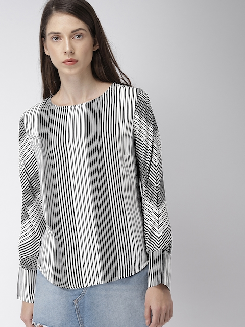 Levis Women Black Striped Top