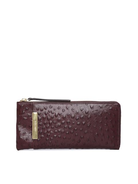 Hidesign Women Brown Solid Zip Around Wallet