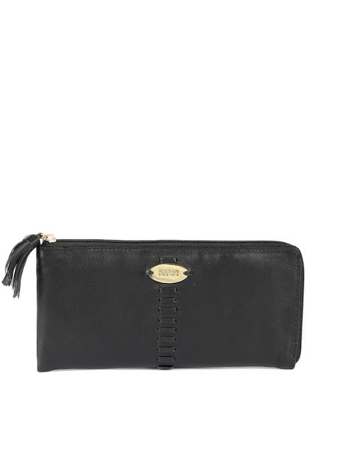 Hidesign Women Leather Black Solid Zip Around Wallet