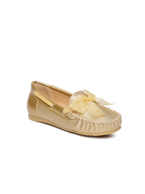 Fame Forever by Lifestyle Girls Gold-Toned Boat Shoes