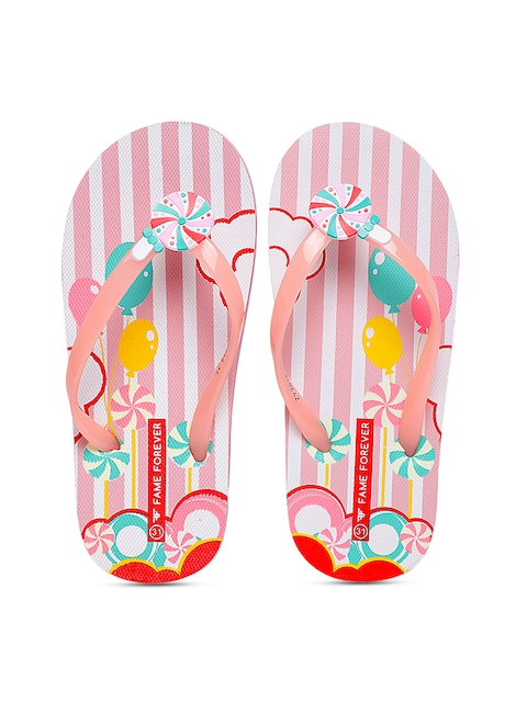 Fame Forever by Lifestyle Girls Pink Thong Flip-Flops