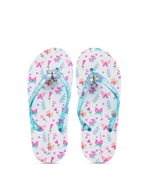 Fame Forever by Lifestyle Girls Blue Solid Thong Flip-Flops