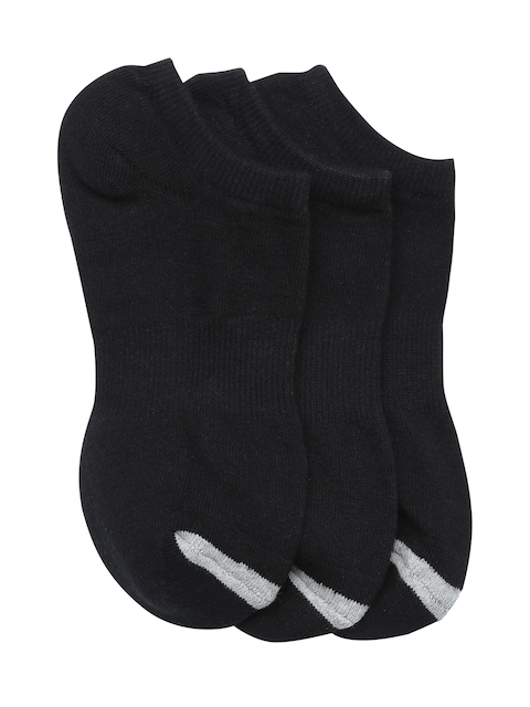 AMERICAN EAGLE OUTFITTERS Women Pack of 3 Black Solid Ankle Length Socks