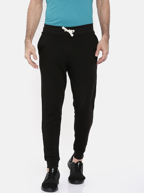 Jack & Jones Men Black Solid Slim Fit Joggers