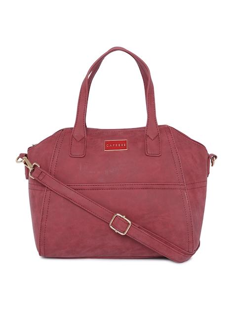 Caprese Rust Brown Solid Handheld Bag
