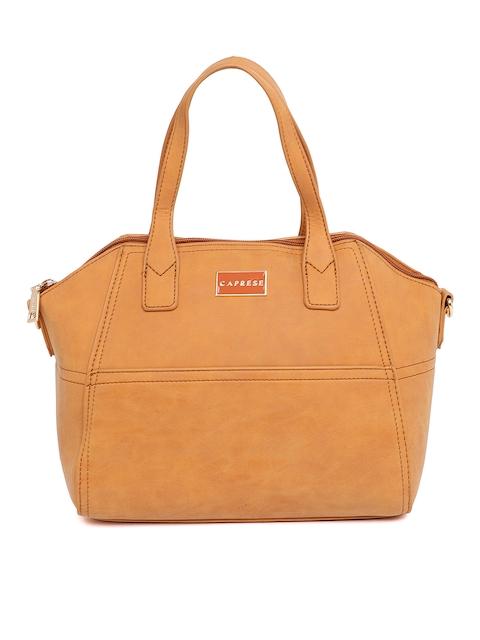 Caprese Brown Solid Handheld Bag