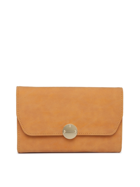 Caprese Yellow Solid Sling Bag