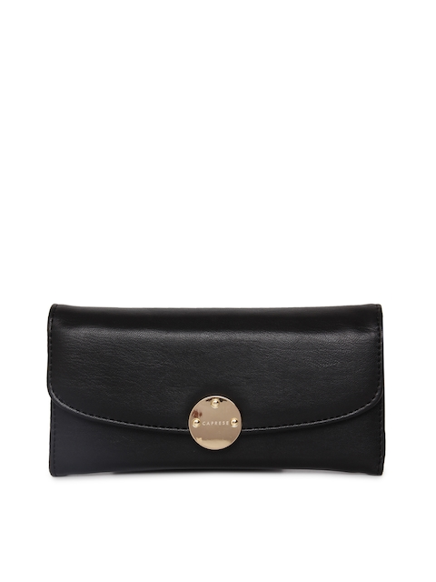 Caprese Women Black BRIGETTA Solid Two Fold Wallet
