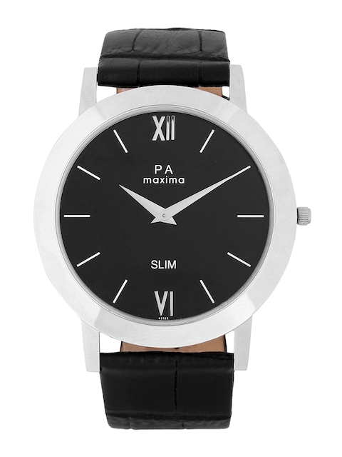 maxima Men Black Analogue Watch 42122LMGI