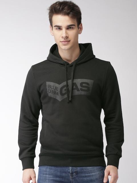 GAS Men Black Printed Sweatshirt