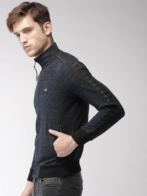 GAS Men Black Self-Design Sweatshirt