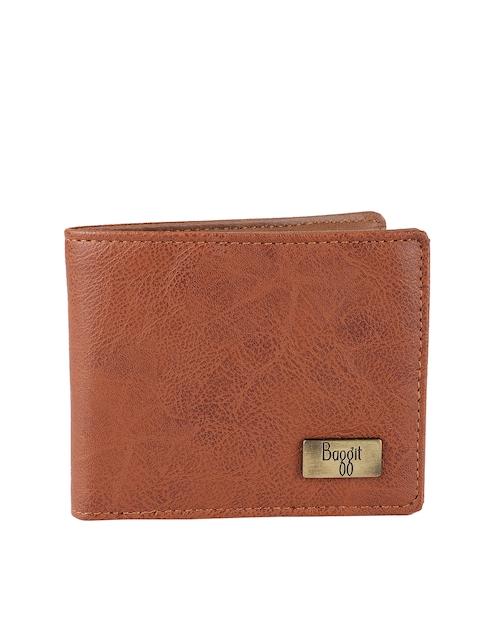 Baggit Women Tan Solid Two Fold Wallet
