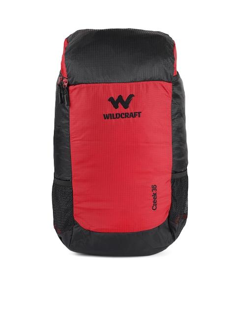 Wildcraft Unisex Black & Red Creek 35 Rucksack
