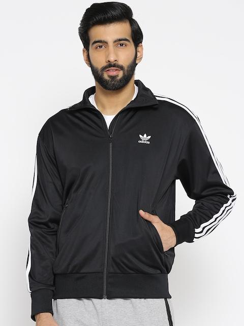 ADIDAS Originals Men Black Solid Firebird TT Sweatshirt
