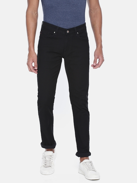 SPYKAR Men Black Slim Fit Low-Rise Clean Look Stretchable Jeans