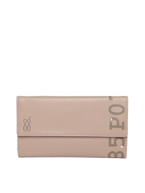 Baggit Women Beige Printed Detail Three Fold Wallet