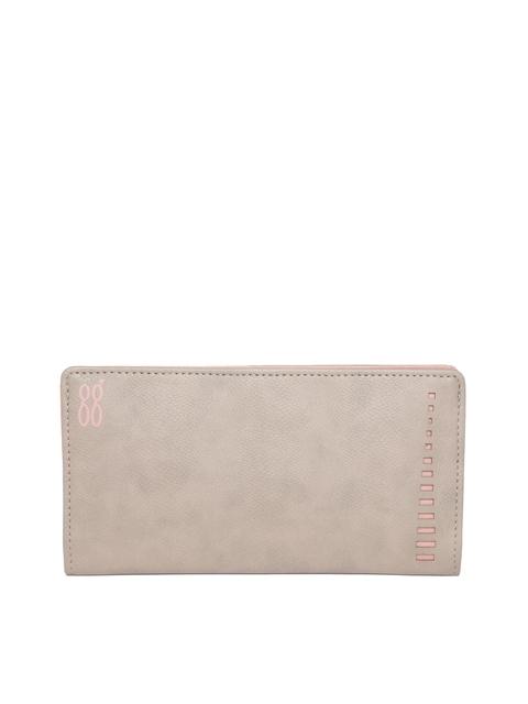Baggit Women Beige Solid Two Fold Wallet
