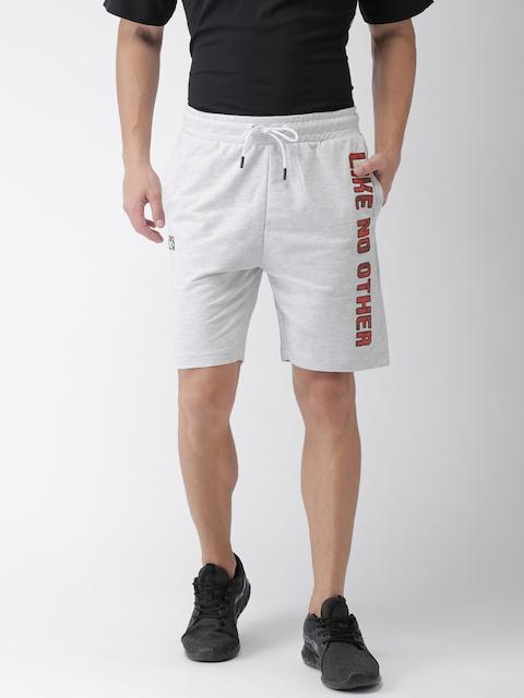 Kappa Men Grey Printed Regular Fit Regular Shorts