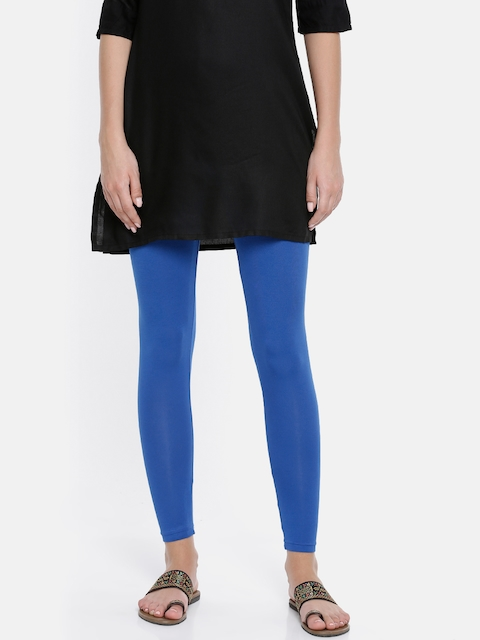 Melange by Lifestyle Women Blue Solid Leggings