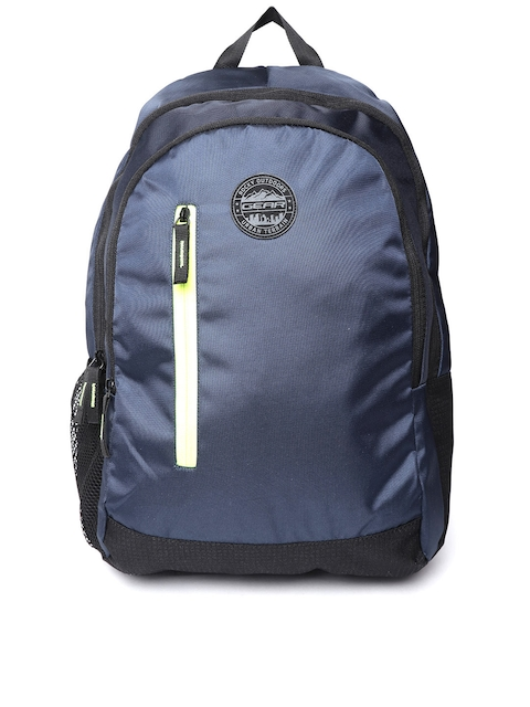 Gear Unisex Navy Blue Solid Backpack
