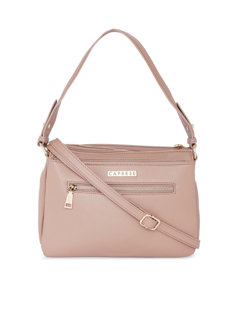Caprese Nude-Coloured Solid Handheld Bag