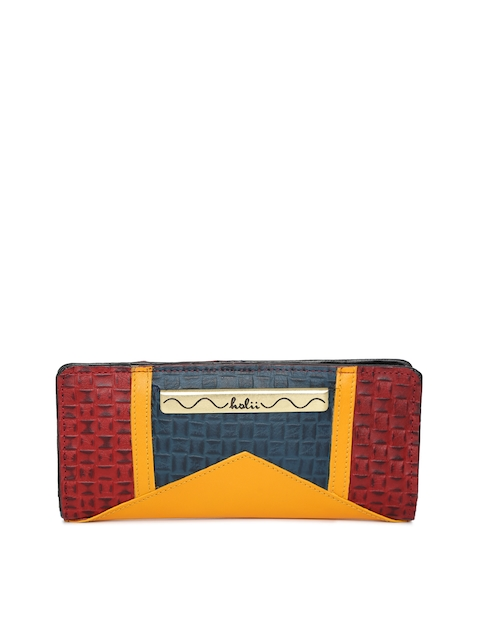 Holii Women Multicoloured Colourblocked Two Fold Wallet