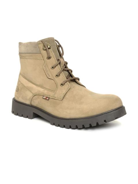 Woodland Men Khaki Nubuck Leather Chukka Boots
