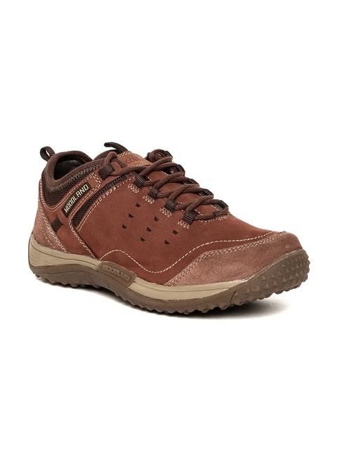 Woodland Men Brown Nubuck Flat Boots