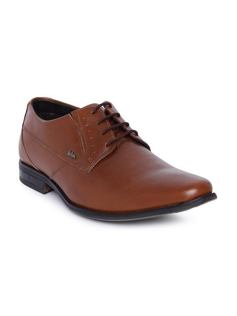 Lee Cooper Men Tan Brown Leather Formal Derbys