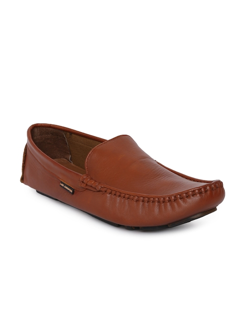 Lee Cooper Men Tan Brown Leather Loafers