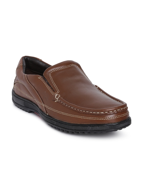 Lee Cooper Men Brown Leather Loafers