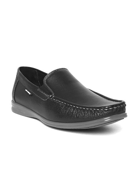 Lee Cooper Men Black Leather Loafers