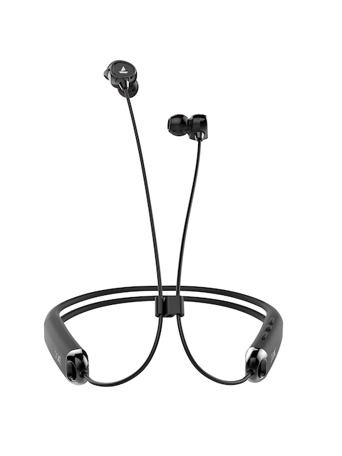 boAt Black Rockerz 325 Wireless Flexible Headphones with Mic