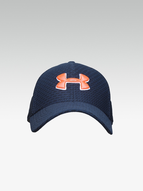 cd4e8795906 UNDER ARMOUR Men Navy Blue Printed Blitzing 3.0 Cap
