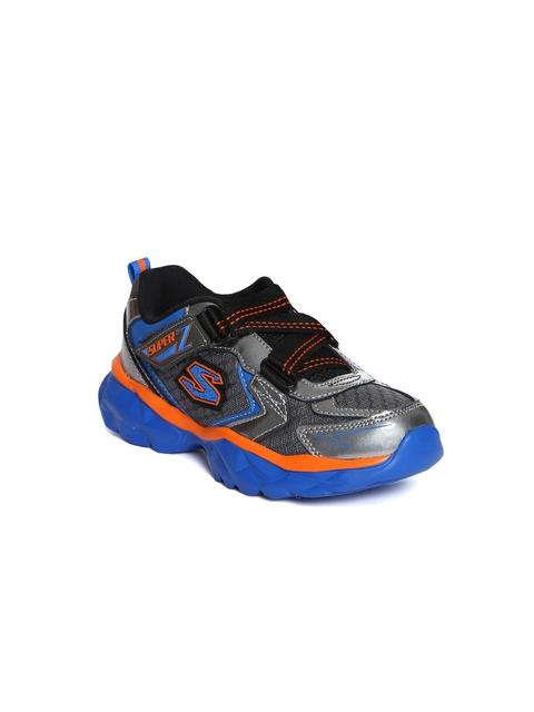 Skechers Boys Grey Liv Dual Damage Running Shoes